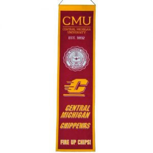 Central Michigan Chippewas Logo Evolution Heritage Banner