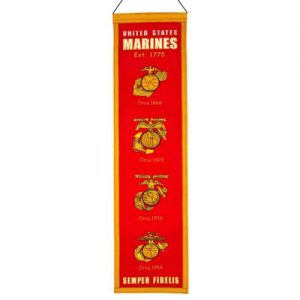 United States of America Marine Corps Evolution Heritage Banner