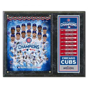 "Chicago Cubs 2016 World Series Champions (Collage) 15""x12"" Stat Plaque"