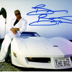 "Brian Bosworth ""The Boz"" Autographed Oklahoma Sooners (Boz with Car) 8x10 Photo"