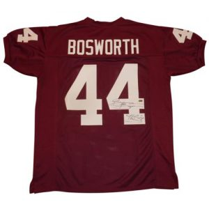 "Brian Bosworth ""The Boz"" Autographed Oklahoma Sooners (Maroon #44) Custom Jersey w/ ""The Boz"""