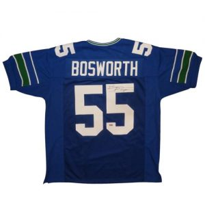 "Brian Bosworth ""The Boz"" Autographed Seattle Seahawks (Blue #55) Custom Jersey"