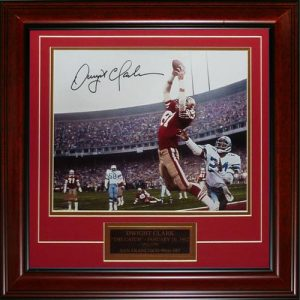 Dwight Clark Autographed San Francisco 49ers (The Catch) Deluxe Framed 11x14 Photo