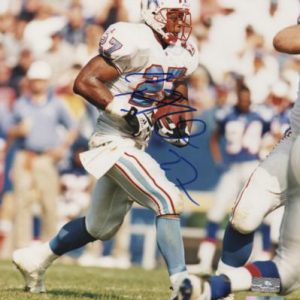 Eddie George Autographed Houston Oilers 8x10 Photo