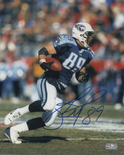 Frank Wycheck Autographed Tennessee Titans 8x10 Photo