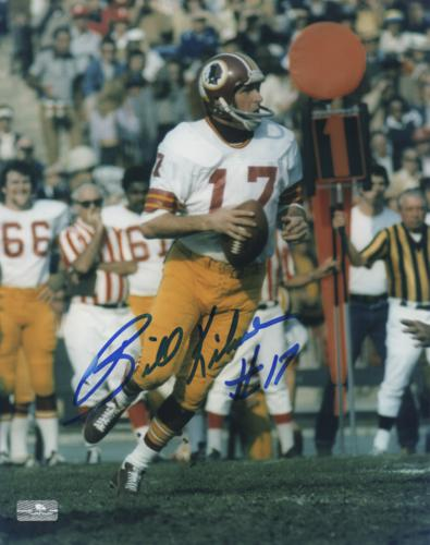 Billy Kilmer Autographed Washington Redskins 8x10 Photo