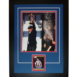"Davis Love III Autographed 2016 Ryder Cup (Celebrating) ""Signature Series"" Frame"