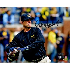Jim Harbaugh Autographed Michigan Wolverines 8x10 Photo - Fanatics