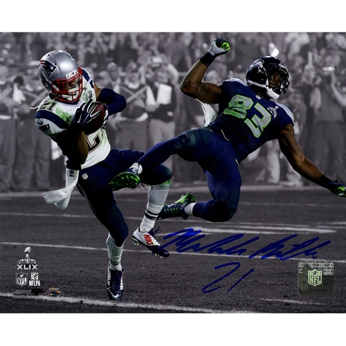 Malcolm Butler Autographed New England Patriots (SB XLIX Int Spotlight) 8x10 Photo - Steiner