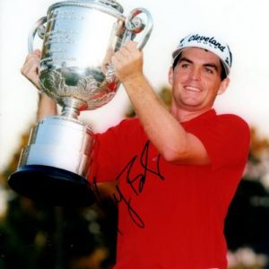 Keegan Bradley Autographed Golf (PGA Championship Trophy) 8x10 Photo