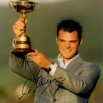Martin Kaymer Autographed Golf (Ryder Cup Trophy) 8×10 Photo