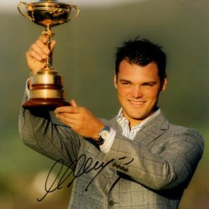 Martin Kaymer Autographed Golf (Ryder Cup Trophy) 8x10 Photo