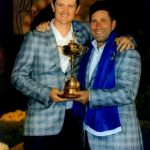 Justin Rose Autographed Golf (Ryder Cup Trophy) 8×10 Photo