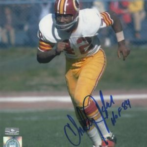 "Charley Taylor Autographed Washington Redskins 8x10 Photo w/ ""HOF 84"""