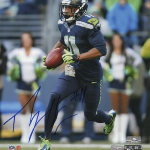 Percy Harvin Autographed Seattle Seahawks (Blue Jersey) 8x10 Photo - Harvin Holo