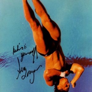 Greg Louganis Autographed Swimming Olympics 8x10 Photo