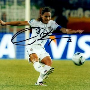 Christie Rampone Autographed USA Soccer 8x10 Photo