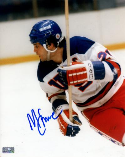Mike Eruzione Autographed 1980 US Olympic Hockey (Action) 8x10 Photo