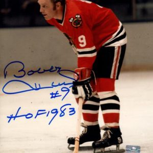 "Bobby Hull Autographed Chicago Blackhawks (Action) 8x10 Photo w/ ""HOF 1983"" - JSA"
