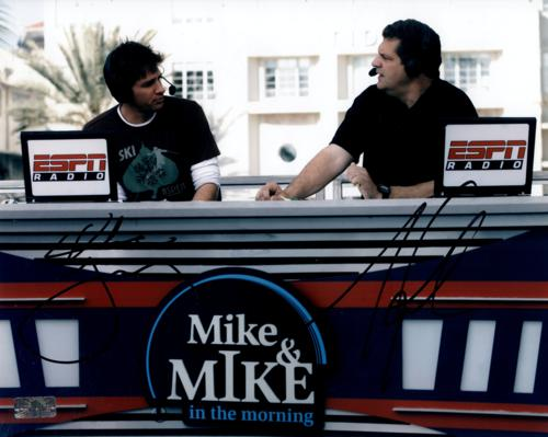 Mike Greenberg And Mike Golic Autographed ESPN (Mike & Mike Radio) 8×10 Photo