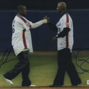Dwight Doc Gooden And Darryl Strawberry Autographed New York Mets 8x10 Photo - MLB