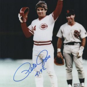 "Pete Rose Autographed Cincinnati Reds (4192 Hit) 8x10 Photo w/ ""4192"" - JSA"