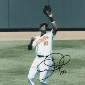 Adam Jones Autographed Baltimore Orioles (Fielding) 8x10 Photo