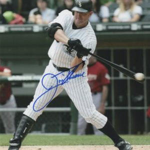 Jim Thome Autographed Chicago White Sox 8x10 Photo