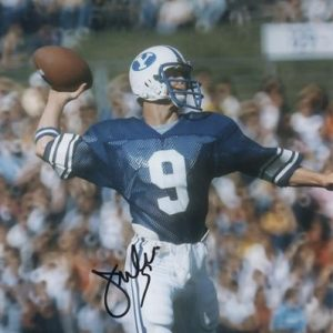 Jim McMahon Autographed Brigham Young University BYU Cougars 8x10 Photo