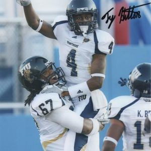 T.Y. Hilton Autographed Florida International University FIU Panthers (Celebrating) 8x10 Photo
