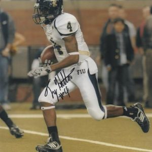 T.Y. Hilton Autographed Florida International University FIU Panthers (Running) 8x10 Photo