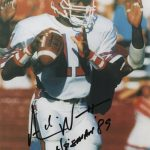 """Andre Ware Autographed Houston Cougars 8×10 Photo w/ """"Heisman 89"""""""