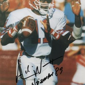 "Andre Ware Autographed Houston Cougars 8x10 Photo w/ ""Heisman 89"""