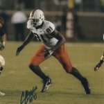 Calais Campbell Autographed Miami Hurricanes 8×10 Photo