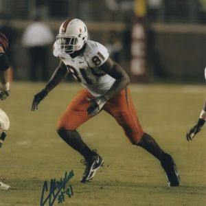 Calais Campbell Autographed Miami Hurricanes 8x10 Photo