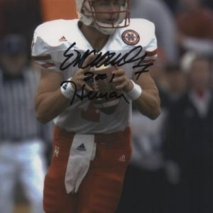 "Eric Crouch Autographed Nebraska Huskers (Action) 8x10 Photo w/ ""2001 Heisman"""