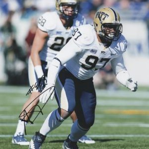 Aaron Donald Autographed Pittsburgh Panthers 8x10 Photo