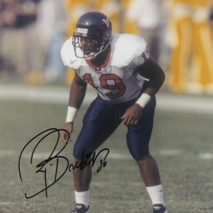 Ronde Barber Autographed Virginia Cavaliers 8x10 Photo