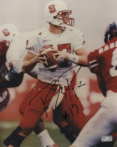 Philip Rivers Autographed North Carolina NC State Wolfpack (White Jersey) 8x10 Photo