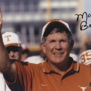 Mack Brown Autographed Texas Longhorns (Horiz) 8x10 Photo