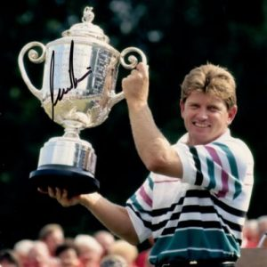 Nick Price Autographed (PGA Championship Trophy) 8x10 Photo