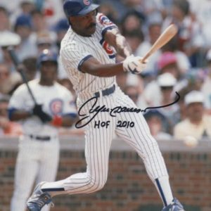 "Andre Dawson Autographed Chicago Cubs 8x10 Photo w/ ""HOF 2010"""
