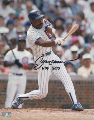 """Andre Dawson Autographed Chicago Cubs 8x10 Photo w/ """"HOF 2010"""""""