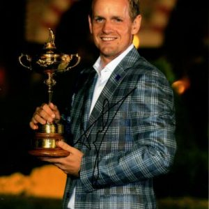 Luke Donald Autographed Golf (Ryder Cup Trophy) 8x10 Photo