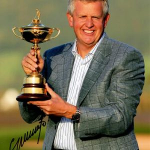 Colin Montgomerie Autographed Golf (Ryder Cup Trophy) 8x10 Photo