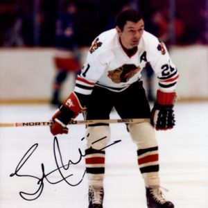 Stan Mikita Autographed Chicago Blackhawks 8x10 Photo