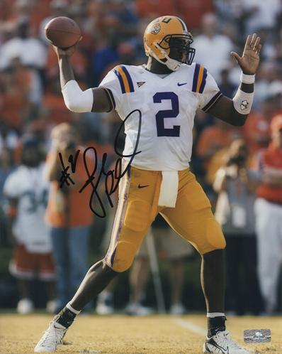 JaMarcus Russell Autographed Louisiana State LSU Tigers 8x10 Photo