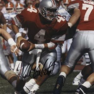 Kirk Herbstreit Autographed Ohio State Buckeyes (Red Jersey) 8x10 Photo