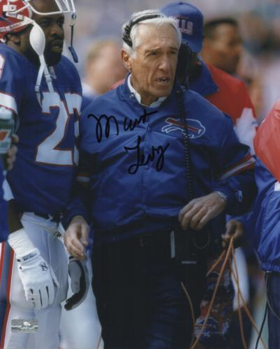 Marv Levy Autographed Buffalo Bills 8×10 Photo