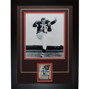 "Lou Groza ""The Toe"" Autographed Cleveland Browns ""Signature Series"" Frame"